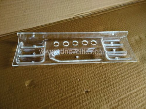 Acrylic tooth brush and tooth paste shelf