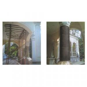 Cicular Masonary Column Repair, Grouting & Wrap Application