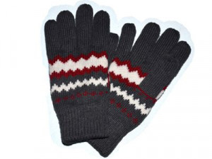 100% Acrylic Winter Knitted Gloves With Adult