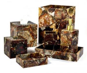 P Wood Bath Accessories