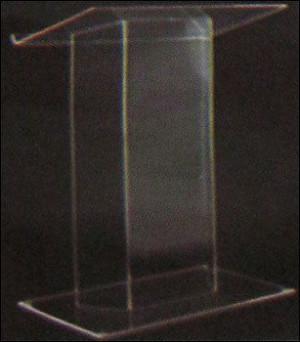 Clear Acrylic Podium Display Board