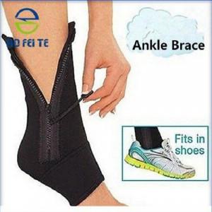 Adjustable Ankle Zip Up Compression Support