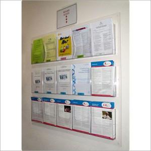 Acrylic BROCHURE holder display panels