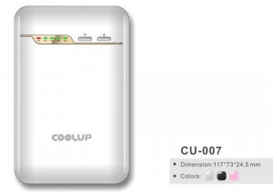 White 5000mAh Battery Charger