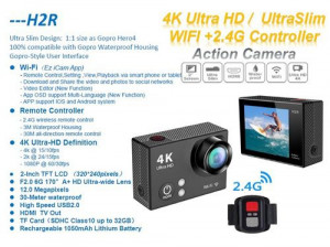 2 Inch H2R Action Camera