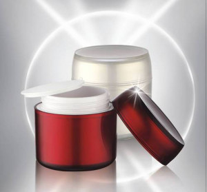 50ml Round Airless Acrylic Cosmetics Skin Care Cream Jar