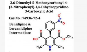 2,6-Dimethyl-5-Methoxycarbonyl-4-(3-Nitrophenyl)-1,4-Dihydropyridine-3-Carboxylic Acid