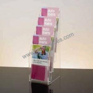 Acrylic Countertop Multipocket Magazine holder