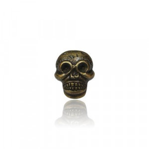 Antique Black Gold Button