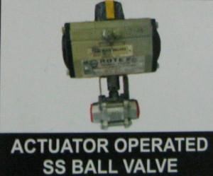 Actuator Operated Ss Ball Valve