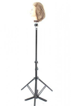 Hairdressing Training Mannequin Head Adjustable Tripod Stand