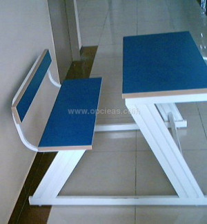 Z SHAPE DESK AND BENCH ATTACHED