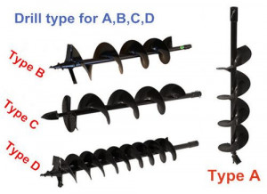 Earth Auger Drill Bits
