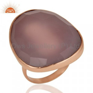 925 Sterling Silver Rose Chalcedony Ring