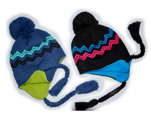 100% Acrylic Winter Knitted Hat And Cap For Girls