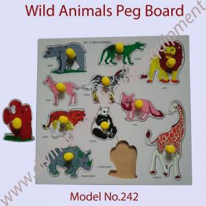 Wild Animals Peg Board