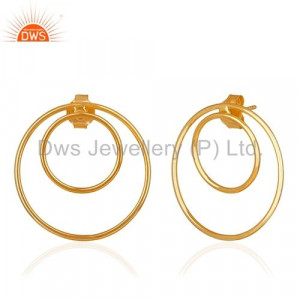 Round Design 925 Silver Earring Manufacturer