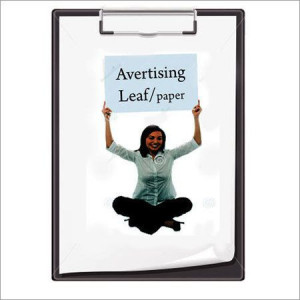 Advertising Leaf Or Paper On Our Product