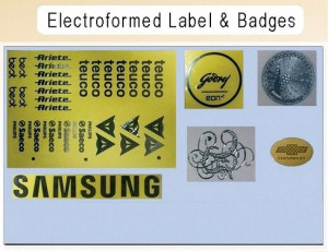 Electroformed Label And Badges Graphics Designing Service