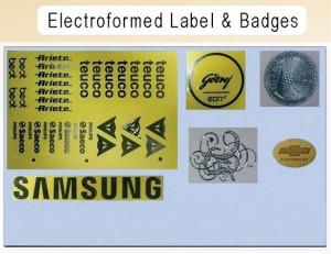Electroformed Label And Badges Graphics Designing Service