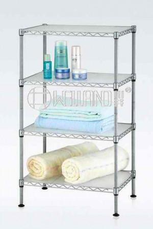 Adjustable Bathroom Storage Rack With Pp Shelf Liners Each Layer