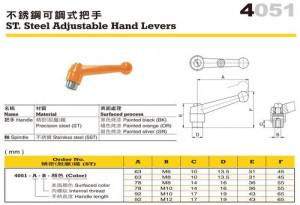 4051 Adjustable Hand Levers