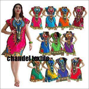 African Dashiki Mini Dress