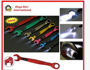 Taiwan Made Patented LED Light Ratchet Wrench