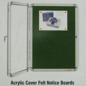 Acrylic Cover Felt Notice Boards