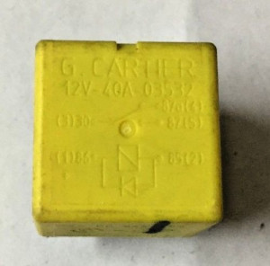 Renault Yellow Relay 5pin 7700844253 12v 40a 03532