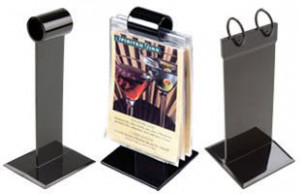 Promotional Acrylic Menu Holder Stand