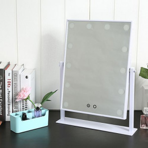 Adjustable Brightness Touch Screen LED Makeup Mirror With Imported Glass Lense