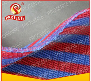 Prosense Cross-Knitted Small Hole 3D Air Mesh Fabric (Blue-Red Stripe Watermelon Color)