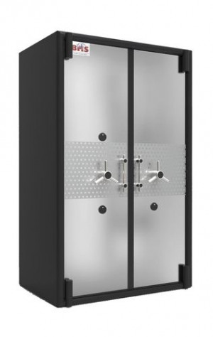 SS Cladding Double Door Safe