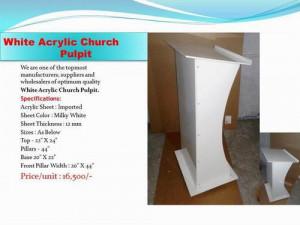 Acrylic Church Pulpit