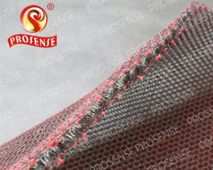 Prosense Cross-Knitted Small Hole 3D Air Mesh Fabric (Black - Red)