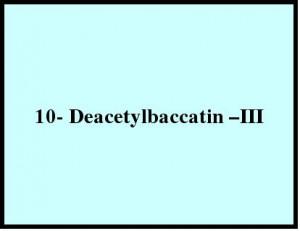10- Deacetylbaccatin –III