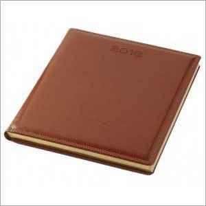 Short A4 Size Week At a Glance Diary Premium - Tan
