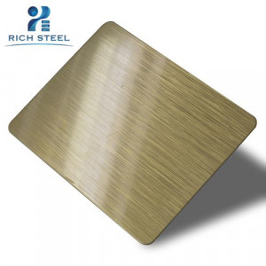 304 Stainless Steel Sheet Hairline For Elevator Decoration