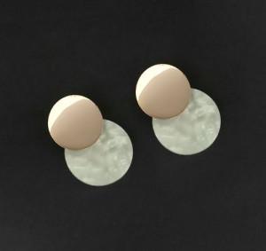 White Acrylic Dangler Earrings