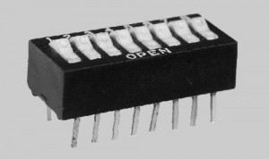 Rocker Actuated Dip Switches