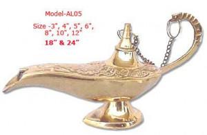 Wedding Gift Brass Alladin Lamp