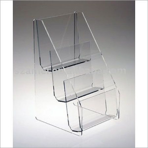 Acrylic counter top magazine holder