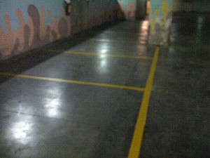 Car Rental Parking Areas Road Marking