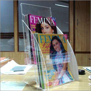 Acrylic Magazine Stands
