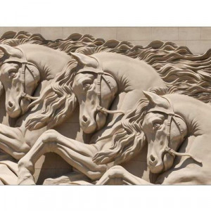 3D Wallpaper with Galloping Horses