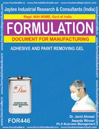 Adhesive & paint removing gel