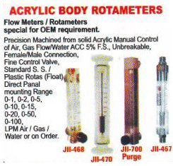 Acrylic Body Rotameters