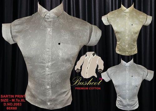 Plain Dobby Print Shirt