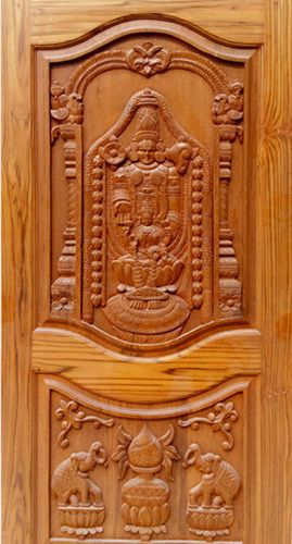 African Gana Teak Wooden Door